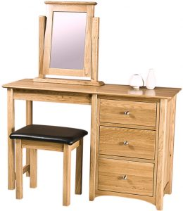 Cambridge Solid Oak Single Pedestal Dressing Table