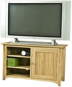 Cambridge Solid Oak 1 Door TV Unit | Fully Assembled