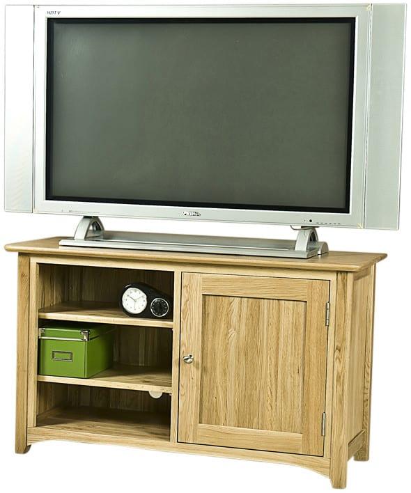 Cambridge Solid Oak 1 Door TV Unit   Fully Assembled