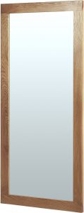 Cambridge Solid Oak Wall Mirror 1300 x 600