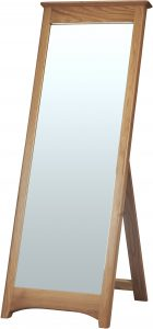 Cambridge Solid Oak Cheval Mirror