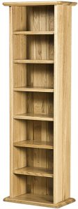 Cambridge Solid Oak CD Rack | Fully Assembled