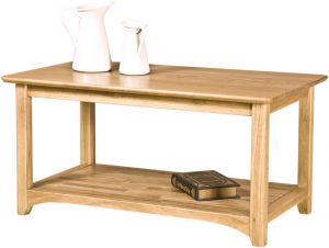 Cambridge Solid Oak Coffee Table With Shelf | Fully Assembled