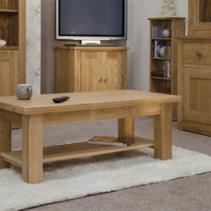 Homestyle Torino Solid Oak 4′ x 2′ Coffee Table