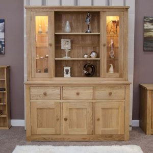 Homestyle Torino Solid Oak Large Dresser (Complete Unit)