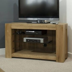 Homestyle Trend Solid Oak Corner TV Unit | Fully Assembled