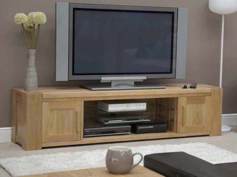 Homestyle Trend Solid Oak Large Plasma Unit   Fully Assembled