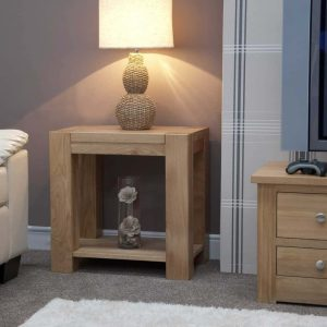 Homestyle Trend Solid Oak Lamp/Sofa Table | Fully Assembled