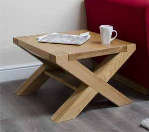 Homestyle Trend Solid Oak X Leg 2′ x 2′ Coffee Table