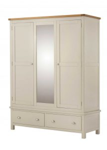 Classic Portland Painted Cream Triple Wardrobe