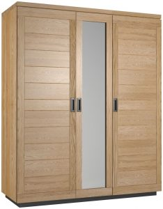 Classic Fusion Industrial Oak Triple Wardrobe