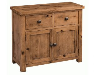 Homestyle Aztec Oak 2 Door 2 Drawer Small Sideboard | Fully Assembled