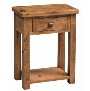 Homestyle Aztec Oak One Drawer Console Table With Shelf