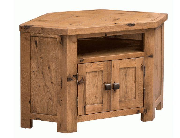Homestyle Aztec Oak 2 Door Corner TV Cabinet | Fully Assembled