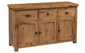 Homestyle Aztec Oak 3 Door 3 Drawer Large Sideboard | Fully Assembled