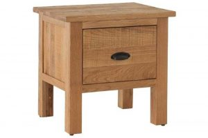 Besp-Oak Vancouver Sawn Oak Lamp Table with 1 Drawer | Fully Assembled