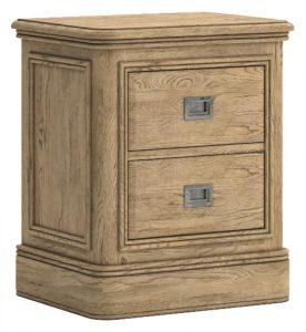 Versailles French Oak 2 Drawer Bedside Cabinet | Fully Assembled