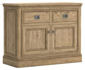 Versailles French Oak Small Sideboard with 2 Drawers & 2 Doors | Fully Assembled