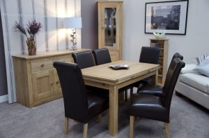 Homestyle Opus Solid Oak Medium Draw Leaf Dining Table