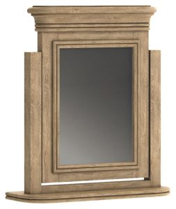 Versailles French Oak Dressing Table Swing Mirror | Fully Assembled