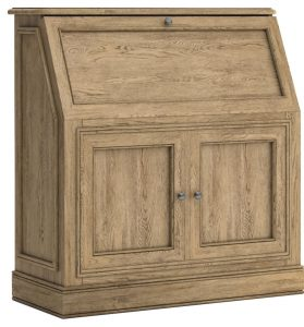 Versailles French Oak Bureau Desk | Fully Assembled