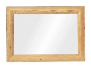 Besp-Oak Vancouver Oak Bevelled Rectangular Mirror
