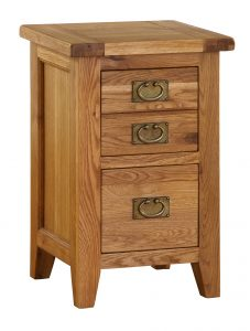 Besp-Oak Vancouver Oak 2 Drawer Bedside Cabinet | Fully Assembled