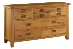 Besp-Oak Vancouver Oak 7 Drawer Dresser Chest | Fully Assembled