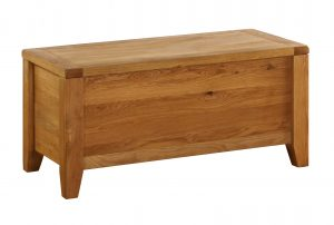 Besp-Oak Vancouver Oak Blanket Chest | Fully Assembled