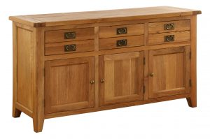 Besp-Oak Vancouver Oak 3 Drawer 3 Door Sideboard | Fully Assembled
