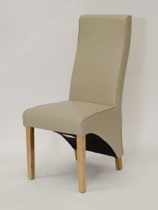Wave Bone Matt Leather Dining Chair (Pair)