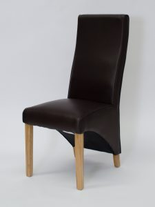 Wave Coco Matt Leather Dining Chair (Pair)