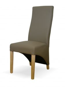 Wave Mushroom Leather Dining Chair (Pair)