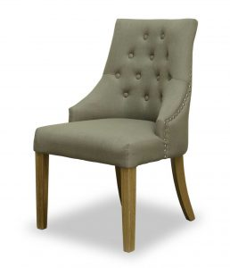 Windsor Button Back Chair – Stone (Pair)
