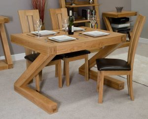 Homestyle Z Solid Oak 4′ x 3′ Dining Table