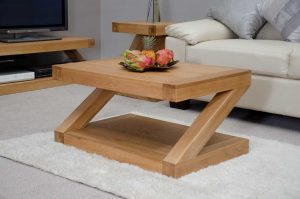 Homestyle Z Solid Oak 3′ x 2′ Coffee Table | Fully Assembled