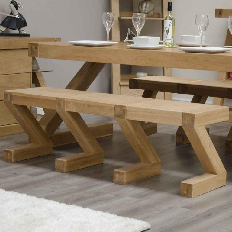 Homestyle Z Oak Large Dining Bench