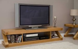 Homestyle Z Solid Oak Large Plasma Unit | Fully Assembled