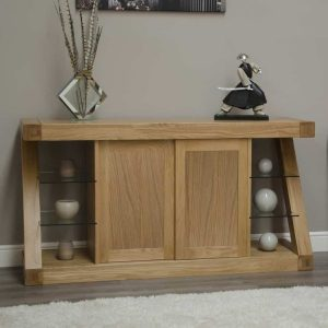Homestyle Z Solid Oak Large Sideboard with 2 doors | Fully Assembled