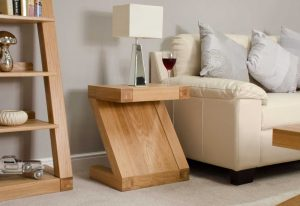 Homestyle Z Solid Oak Range Lamp Table | Fully Assembled