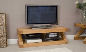 Homestyle Z Solid Oak Plasma TV Unit | Fully Assembled
