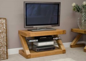 Homestyle Z Solid Oak TV Unit | Fully Assembled