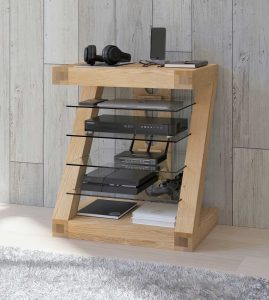 Homestyle Z Solid Oak Hifi Unit | Fully Assembled