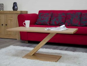 Homestyle Z Solid Oak Modern Coffee Table | Fully Assembled