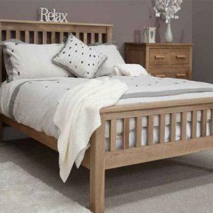 Dakota Oak Double 4'6 Bed