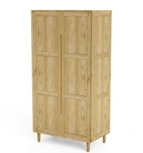 Homestyle Scandic Oak Double Wardrobe