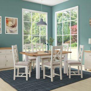 Venice Light Oak Oval Dining Table & 2 Bench Set