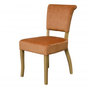 Capri Dining Chair Orange Velvet (Pair)