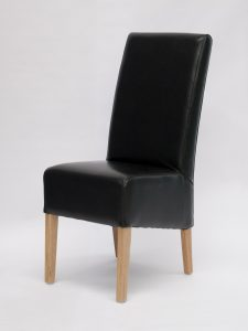 Oslo Black Bycast Leather Dining Chair (Pair)