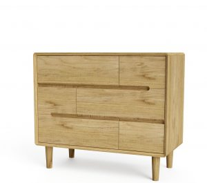 Homestyle Scandic Oak  6 Chest of Drawers